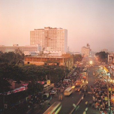 Dhaka downtown mega city